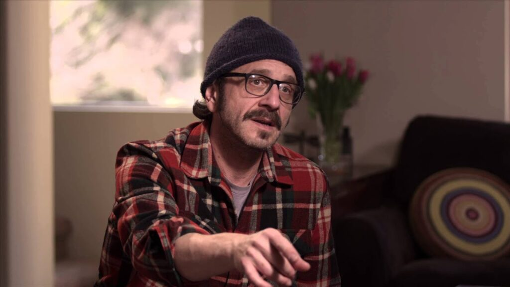 Marc Maron is speaking in an interview